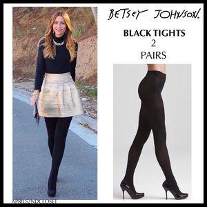 2 BETSEY JOHNSON BLACK TIGHTS A3C